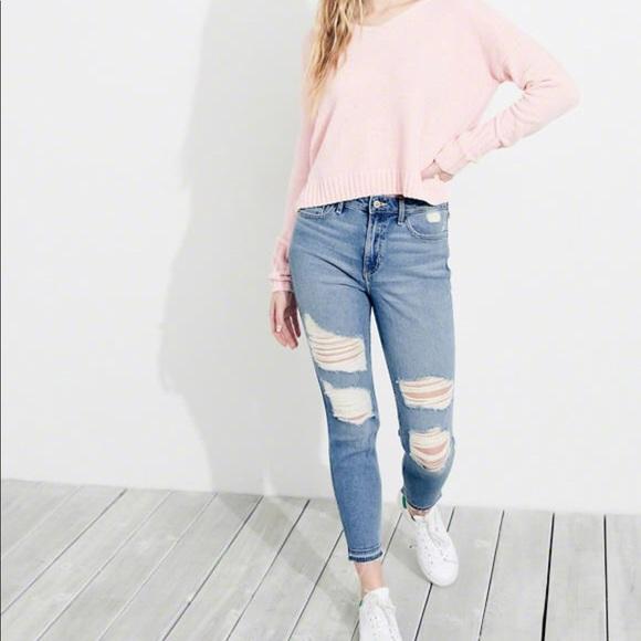 568f2d5cc4082 Vintage Stretch High-Rise Crop Super Skinny Jeans